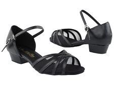 Women's West Coast Swing Salsa Ballroom Dance Shoes low Heel 1 Very Fine 6027FT