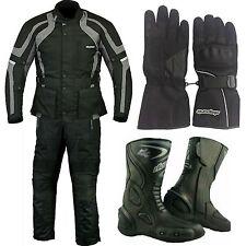 RKSports Commander Motorbike Waterproof Grey Glove Boots Trousers Jacket CE Mens