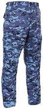 Men's Sky Blue Digital Camo BDU Cargo Pants - Tactical Military Style S - 3XL