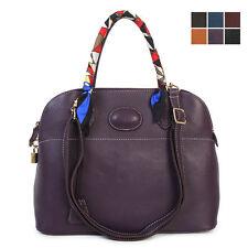 <Last Stock Sale>New GENUINE LEATHER handbag TOTE SHOULDER Bag + SCARF [WB1288]