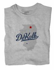 DeKalb Illinois IL Ill T-Shirt MAP
