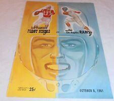 VINTAGE 1961 SAN FRANCISCO FORTY NINERS VS LOS ANGELES RAMS PROGRAM