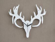 Reindeer Deer Tarandus Caribou Horn Silhouette - Wall Clock