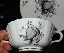 Lovely Elegant Royal Worcester Fruit Pattern, Large Cream Soup & Liner, Saucer