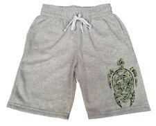 Men's Camo Tribal Turtle Gray Fleece shorts sweatpants Jogger Safari Zoo B283
