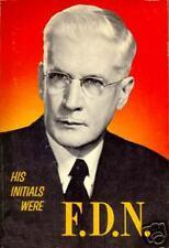 His Initials Were F D N Adventist Wheeler excellent