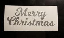 Buon Natale Adesivo Vinile/Adesivo per il vino in vetro glitter/pallina albero Natale/Regalo