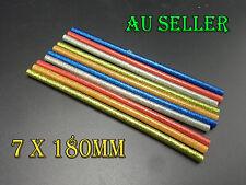Bulk 10-100 Hot Coloured Glitter Melt Glue Sticks Adhesive Craft Sticks 7mmX18cm