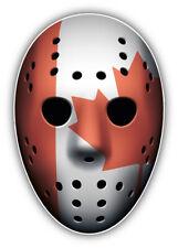 Canada Flag Ice Hockey Goalie Mask Car Bumper Sticker   - 3'', 5'', 6'' or 8''