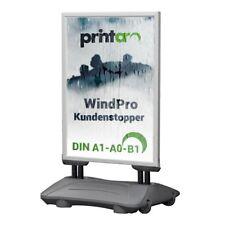Kundenstopper WindPro 100% Waterproof  ALU-SILBER, Plakatständer Werbeaufsteller