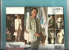VOGUE 2948 pattern business jacket dress top skirt pant Sz 6 8 10 uncut wardrobe
