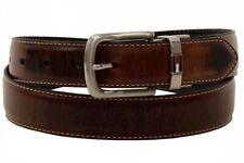 Tommy Hilfiger Men's Brown/Black Genuine Leather Reversible Belt