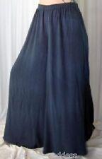 gray palazzo pants split skirt gaucho L XL 1X 2X 3X 4X 5X 6X