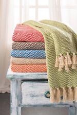 Chevron Soft Cotton Handloom Throw, A Fair Trade Blanket.