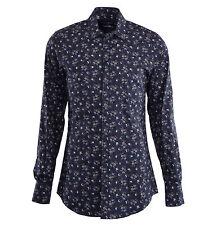 Dolce & Gabbana Gold camisa con flores Print gris floral printed camisa 04806