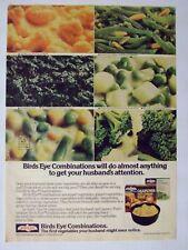 1976 Birds Eye Combinations Vegetable Magazine Advertisement Ad Page
