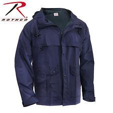 Rothco Waterproof Microlite durable PVC Coated Nylon Rain Jacket Navy Blue #3880