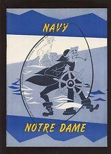 October 31 1959 NCAA Football Program Navy vs Notre Dame NRMT