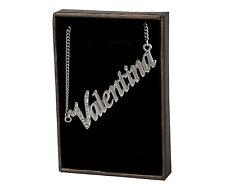 Collar Con Nombre Valentina – 18K Chapado En Oro | Checa Pedrería Colgante De
