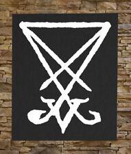 Sigil of Lucifer BACK Patch - Baphomet Leviathan Cross Pentagram Satanic Occult