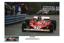 Gilles Villenevue Ferrari 312T2 Canadian Grand Prix, Mosport 1977 Car Poster:>)