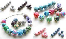 Fimo Perlen Polymer Clay Beads 10mm 10 Stück - 35 verschiedene Motive SERAJOSY