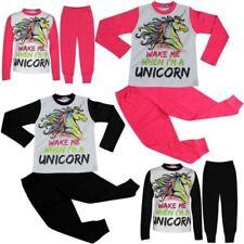 Infantil Pijamas de Niña Wake Me When i ' M a Unicorn Ropa Descanso 5-13 Años