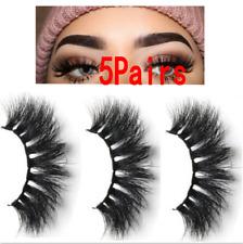 5Pairs 3D Mink Hair False Eyelashes Thick Long Lashes Wispy Fluffy Eye Lashes UK
