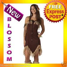 CK79 Indian Princess Teen Girls Pocahontas Native Wild West Fancy Dress Costume