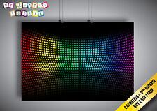 Cartel Poster Multicolor Círculos de rainbow Arco Iris digital Wall Arte