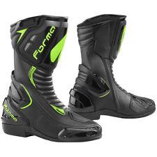 Forma Freccia Motorcycle Motorbike Racing Boots - Black / Fluo Yellow