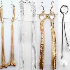 Ladies Dangle Earrings Indian Accessory Fashion Jewellery Elegant Long Drop