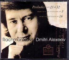 Dmitri ALEXEEV: RACHMANINOV Preludes Op.23 32 Moments Musicaux Morceaux Op.3 2CD