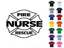 Nurse Fire Rescue T-Shirt #311 - Free Shipping