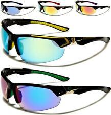 Nuevas Gafas de Sol Negro para Hombre Damas Niños Deportes Diseñador Envoltura espejados Semi sin montura