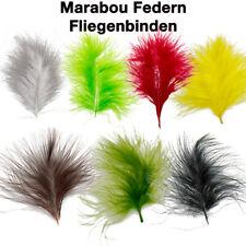 MARABOU FEDERN, Fliegenbinden, 7 Farben, 10-12cm lang, Basteln, lange Grannen