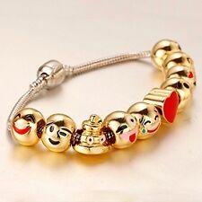 GOLD PLATED EMOJI Bead CHARM BRACELET BEST PRICE HIGH QUALITY