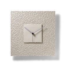 Orologio da Parete Texture Quadrato di Alto Arredo Realizzato a Mano in Italia