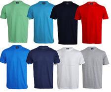 Mens Basic Cotton T-Shirt Crew Gym Top Training Running Big M - 5XL