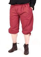 Kniebundhose zum Schnüren, rot, Mittelalter Hose Gewandung LARP