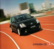 Citroen C2 2005 UK Market Sales Brochure VTS VTR Furio SX L