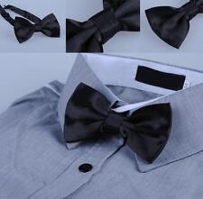 1 x quality mens silk bowtie bow tie black necktie wedding party tuxedo formal