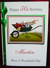 Personalised Handmade Birthday Card Gardening Gardener 50th, 60th, 65th (1557)