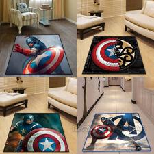 Captain America Carpet Mat Home Area Chair Rugs Square Carpet Multi-function