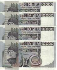 ITALY, 10000 LIRE  X  4, 1982, s/n : SC 534194 E - SC 534197, UNC