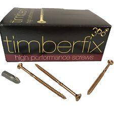 8g 4mm x 70mm PREMIUM CHIPBOARD PLY WOOD TIMBER SCREWS POZI CSK TIMBERFIX 360