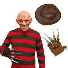 FREDDY Bruciato Uomo Horror Maschera Cappello mano Artiglio INCUBO Halloween Costume Set