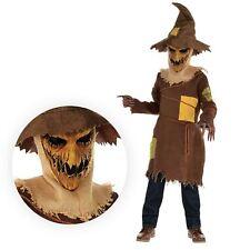 Enfants Garçons Champ de maïs Effrayant Horreur Pumpkin Scarecrow Costume sorcier hanté OZ