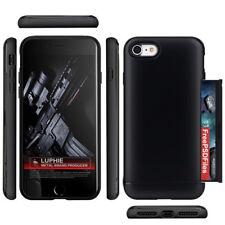 iPhone 8 Wallet Case Card Holder ID Slot Sliding Cover Hidden Pocket Shockproof