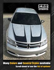 Dodge Avenger Hood Accent Stripes Decals 2011 2012 2013 2014 Pro Motor